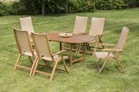 MX Gartenmöbel Capri II Set 7 tlg. FSC ® Akazienholz geölt