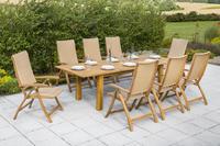 MX Gartenmöbel Capri Set 9 tlg. FSC ® Akazienholz geölt