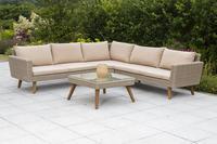 MX Gartenmöbel Pamplona Eckset Lounge PolyRattan natur