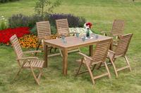 MX Gartenmöbel Paraiba Set 7tlg. FSC ® Akazienholz geölt