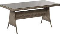 MX Gartentisch Ravello Tisch, 150 x 80 cm grau PolyRattan
