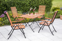 MX Gartenmöbel Schlossgarten III 5tlg. FSC ® Eukalyptusholz geölt