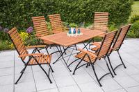 MX Gartenmöbel Schlossgarten I 7tlg. FSC ® Eukalyptusholz geölt