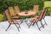 MX Gartenmöbel Schlossgarten II 7tlg. FSC ® Eukalyptusholz geölt