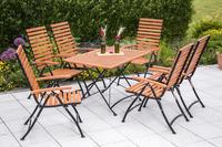 MX Gartenmöbel Schlossgarten III 7tlg. FSC ® Eukalyptusholz geölt