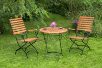 MX Gartenmöbel Schlossgarten Set R 3tlg. FSC ® Eukalyptusholz geölt