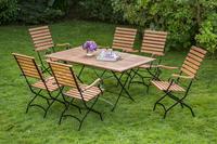 MX Gartenmöbel Schlossgarten E 7tlg. FSC ® Eukalyptusholz geölt