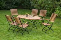 MX Gartenmöbel Schlossgarten O 7tlg. FSC ® Eukalyptusholz geölt