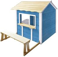 Deluxe Spielhaus  Der große Palast / Blau mit Bank