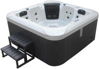 Deluxe Outdoor Whirlpool Dreamy plus Treppe und Thermoabdeckung