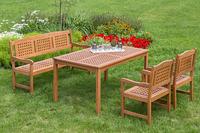 MX Gartenmöbel LIMA 4tlg. Set FSC® Eukalyptusholz geölt