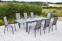 MX Gartenmöbel Set Trivero 9tlg. Aluminium