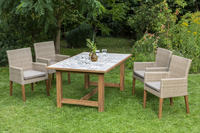 MX Gartenmöbel Ranzano 5tlg. Set Kunststoffgeflecht, Akazie