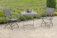 MX Gartenmöbel Sanssouci 3 tlg. Stahl Rattan