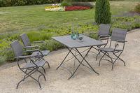 MX Gartenmöbel Sanssouci 5tlg. Set Stahl, Kunsttoffgeflächt