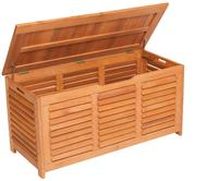 MX Auflagenbox Kissenbox 123 x 54 x 62 cm Eukalyptusholz geölt