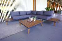 MX Gartenmöbel Eckset Athen15 tlg, inkl. Sitz- un Rückenkissen Akazienholz
