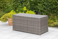 MX Auflagenbox Kissenbox ca. 130 x 60 x 55 cm PolyRattan grau