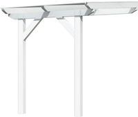 Karibu Terrassenüberdachung Modell 1 weiß (10mm Doppelstegplatten)