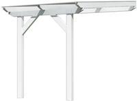 Karibu Terrassenüberdachung Modell 3 Größe A weiß MIT Dacheindeckung (10mm Doppelstegplatten)