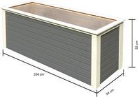 Karibu 28 mm Hochbeet 2 terragrau