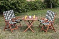 MX Gartenmöbel Bahia Set 5tlg. Esstischgruppe 4x Sessel und Tisch FSC Eukalyptus