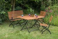 MX Gartenmöbel 4tlg. Schlossgarten Set Bank, Tisch und Stühle