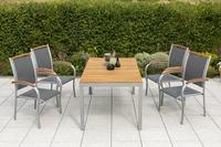 MX Gartenmöbel Esstichgruppe 5tlg. Siena FSC ® Akazie