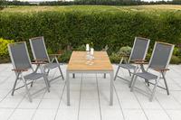 MX Gartenmöbel Esstichgruppe 5tlg. Siena FSC ® Akazie Tisch 150x90