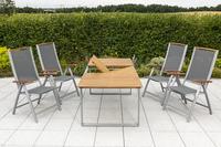 MX Gartenmöbel Esstichgruppe 5tlg. Siena FSC ® Akazie Tisch 150/200