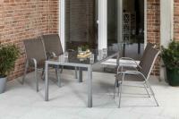MX Gartenmöbel Esstischgruppe Sorrento 5tlg. 4x Sessel und Tisch