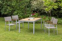 MX Gartenmöbel 5tlg. Esstischruppe Silano FSC ® Akazienholz Tisch 150x90