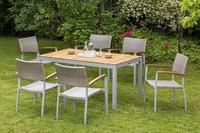 MX Gartenmöbel 7tlg. Esstischruppe Silano FSC ® Akazienholz Tisch 150x90