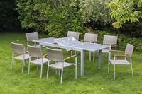MX Gartenmöbel 9tlg. Esstischruppe Silano FSC ® Akazienholz Tisch 160/220x90