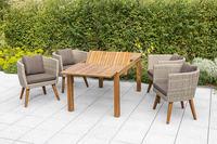 MX Gartenmöbel Imperia Set 5tlg. Esstischgruppe 4x Sessel und Tisch FSC ® Akazien