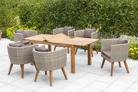 MX Gartenmöbel 7tlg. Esstischgruppe Imperia Tisch 150/200x90cm