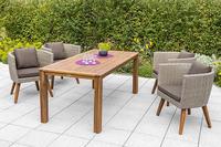 MX Gartenmöbel Imperia Set 5tlg. Esstischgruppe 4x Sessel und Rechtecktisch FSC ® Akazien