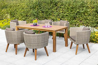 MX Gartenmöbel 7tlg. Esstischgruppe Imperia Tisch 185x90cm