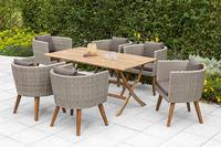 MX Gartenmöbel 7tlg. Esstischgruppe Imperia Tisch 160x90cm