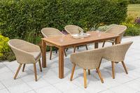MX Gartenmöbel 7tlg. Esstischgruppe Arrone FSC ® Akazienholz geölt