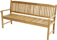 Ploss Gartenbank Landhausbank NEW HAVEN Teak 180 cm