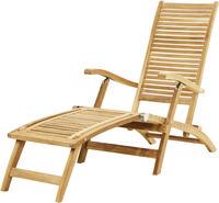 Ploss Gartenliege Deckchair YORK Teak natur