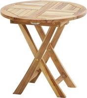 Ploss Gartentisch Beistelltisch TENNESSEE ECO Teak rund 50x50 cm