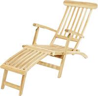 Ploss Gartenliege Deckchair TITANIC ECO Teak natur