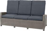 Ploss Gartenmöbel 3-Sitzer Lounge-Sofa VIGO COMFORT Polyrattan-Geflecht