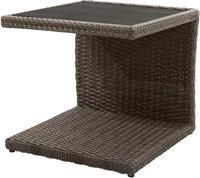 Ploss Gartenmöbel Beistelltisch ROCKING® Polyrattan-Geflecht 50x50cm