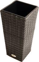 Ploss Pflanzgefäß ROCKING® Polyrattan-Geflecht 28x28x60 cm