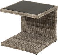 Ploss Gartentisch Beistelltisch RABIDA® Polyrattan-Geflecht 50x50cm