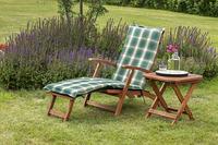 MX Gartenliege Deckchair Set 3tlg. Eukalyptusholz