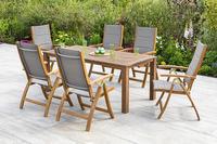 MX Gartenmöbel Acapulco Set 7tlg. Tisch 185 x 90cm